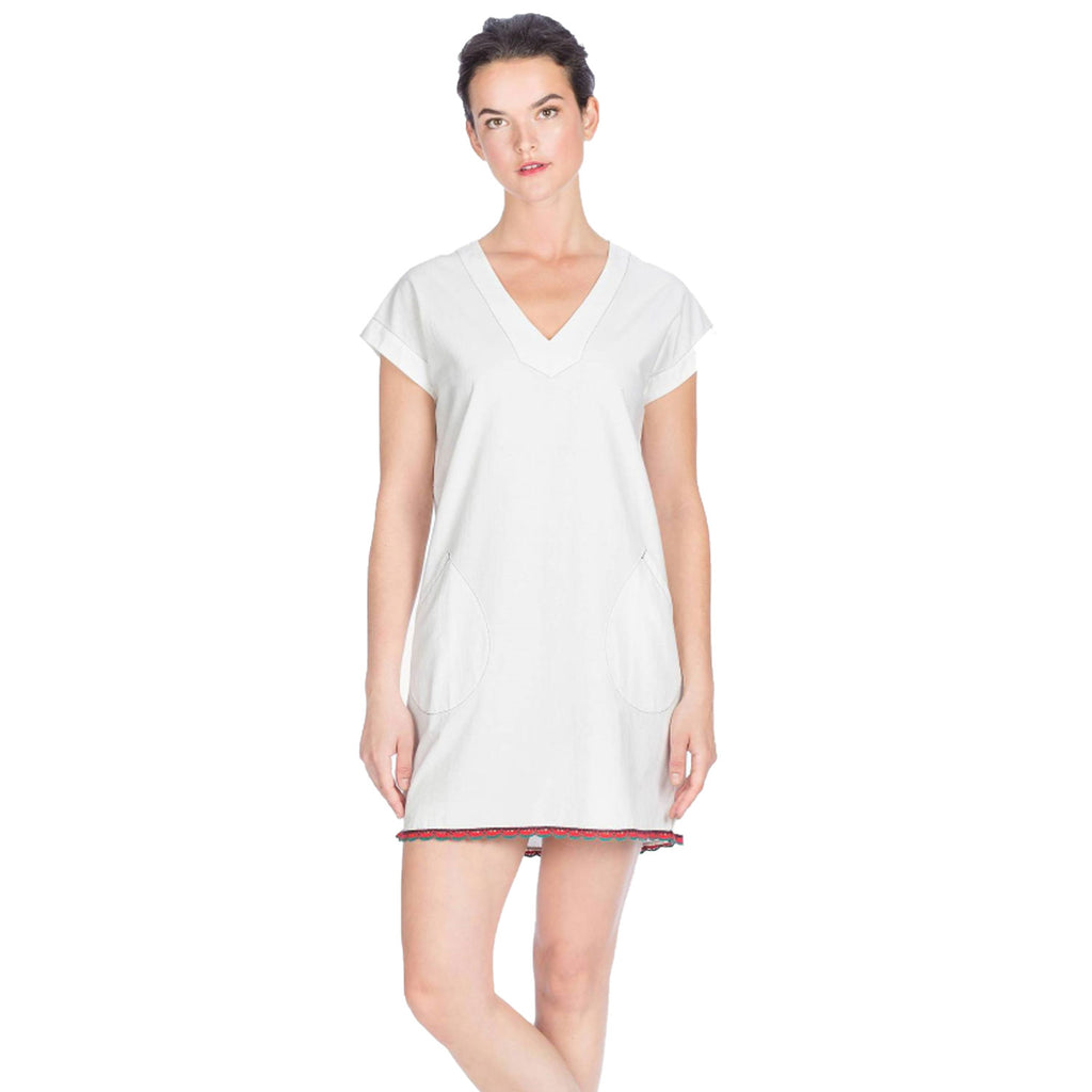 Lilla P Off- White Pocket Shift Dress Size Extra Small Muse Boutique Outlet | Shop Designer Dresses on Sale | Up to 90% Off Designer Fashion