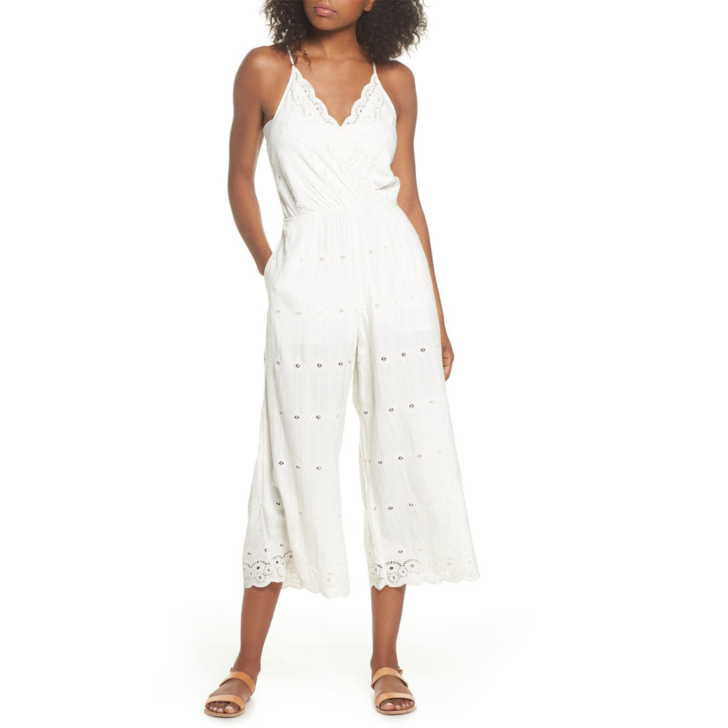 L Space Ivory Ciara Eyelet Jumpsuit Size Medium Muse Boutique Outlet | Shop Designer Rompers & Jumpsuits on Sale | Up to 90% Off Designer Fashion