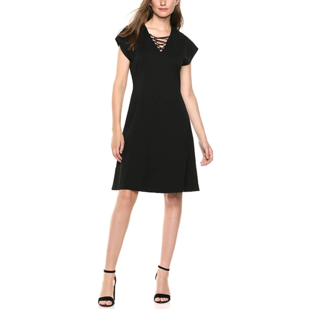 Lysse Black Sia Lace Up Dress Size 1X Muse Boutique Outlet | Shop Designer Dresses on Sale | Up to 90% Off Designer Fashion