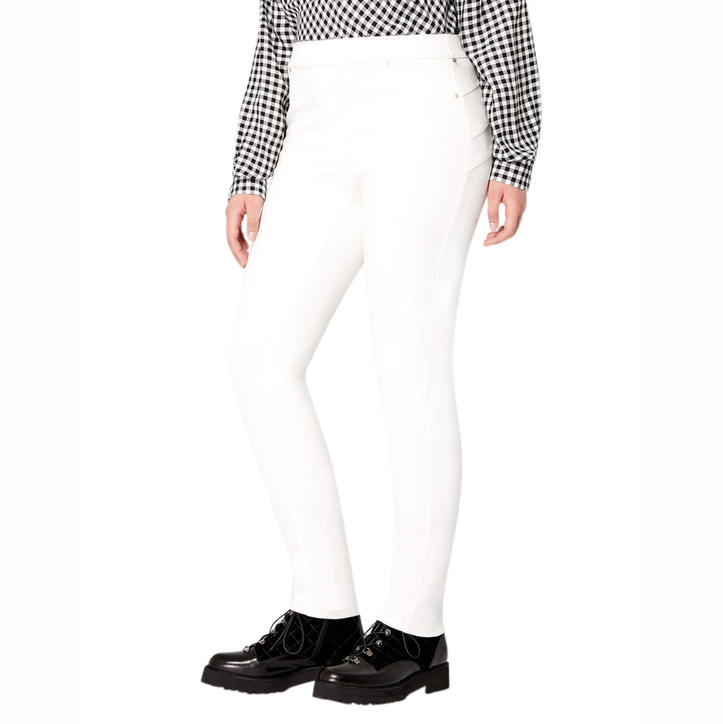 Marina Sport White Jersey Leggings Plus Size Size Small Muse Boutique Outlet | Shop Designer Plus Size Pants on Sale | Up to 90% Off Designer Fashion
