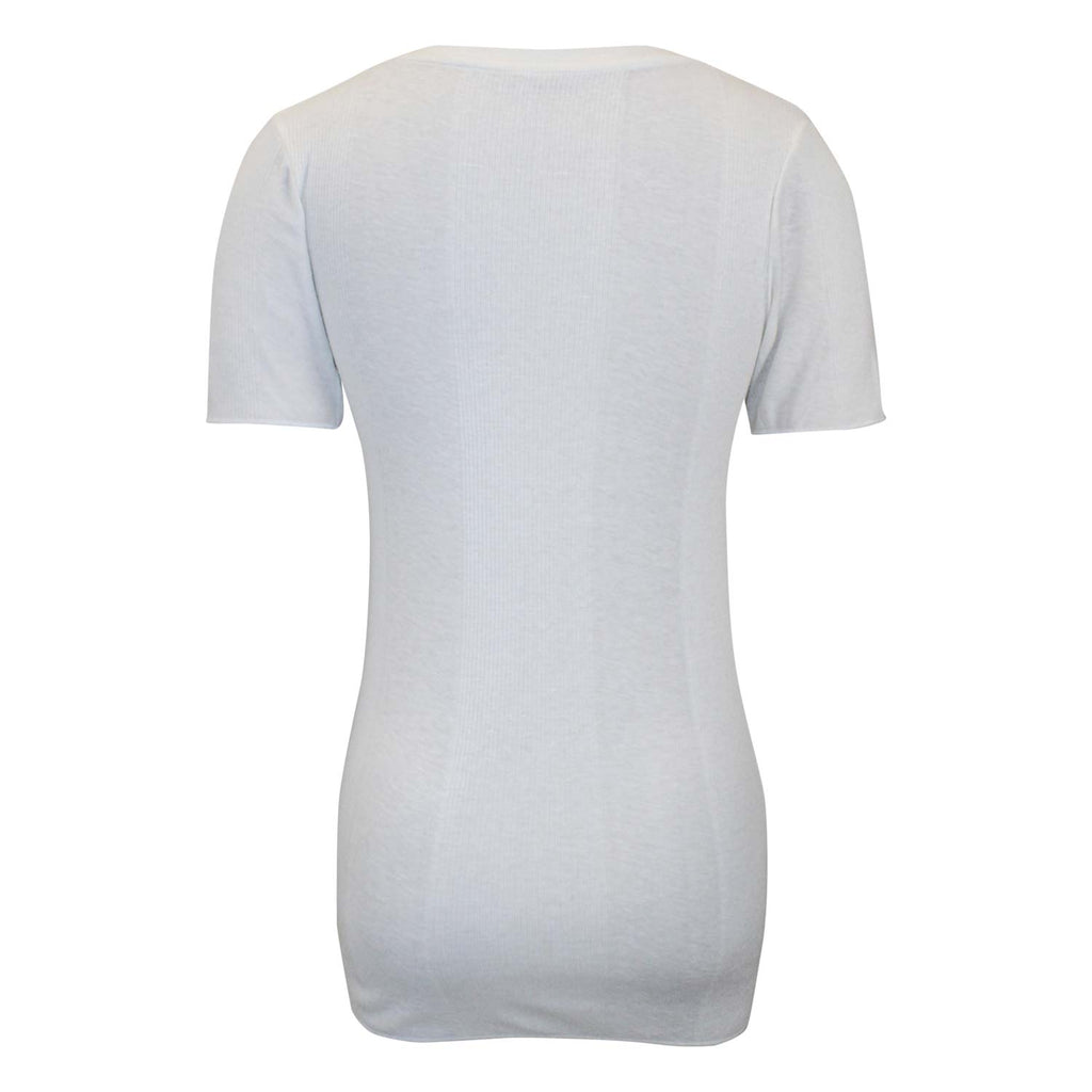 Majestic Filatures  Ribbed Crew Neck Tee Size  Muse Boutique Outlet | Shop Designer Short Sleeve Tops on Sale | Up to 90% Off Designer Fashion