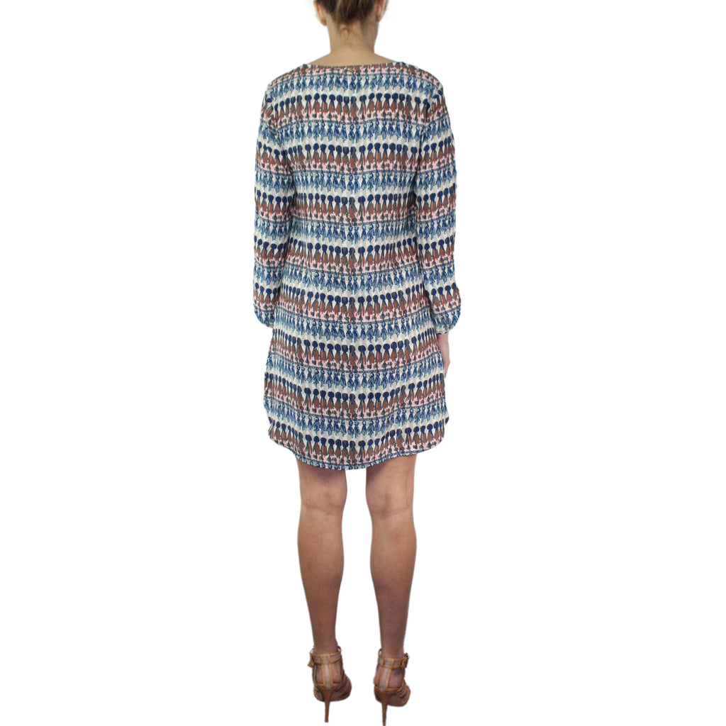 Marie Oliver  Long Sleeve Printed Silk Shift Dress Size  Muse Boutique Outlet | Shop Designer Clearance Dresses on Sale | Up to 90% Off Designer Fashion