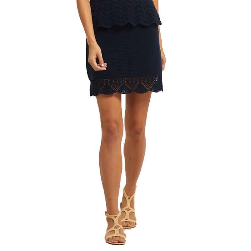 Marie Oliver Navy Crochet Skirt Size Extra Small Muse Boutique Outlet | Shop Designer Skirts on Sale | Up to 90% Off Designer Fashion
