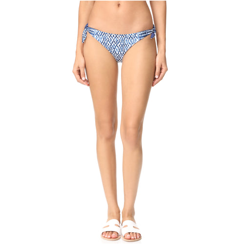 Mara Hoffman Listello Tie Side Bikini Bottom Extra Small Midnight Muse Boutique Outlet