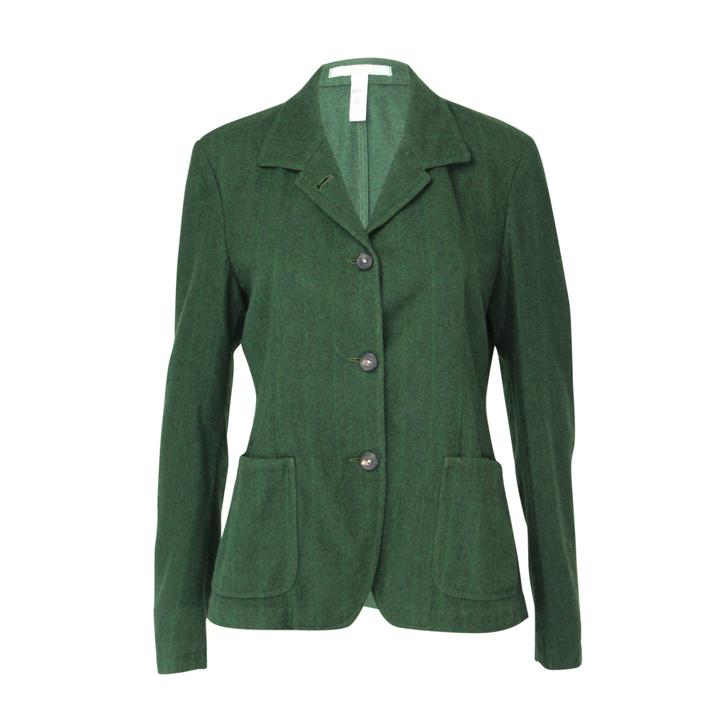 Massimo Alba Green Wool Three Button Blazer Size Large Muse Boutique Outlet | Shop Designer Clearance Outerwear on Sale | Up to 90% Off Designer Fashion