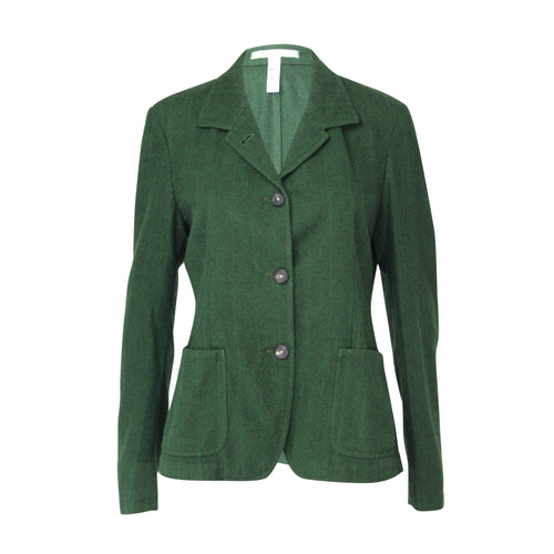 Massimo Alba Wool Three Button Blazer Large Green Muse Boutique Outlet