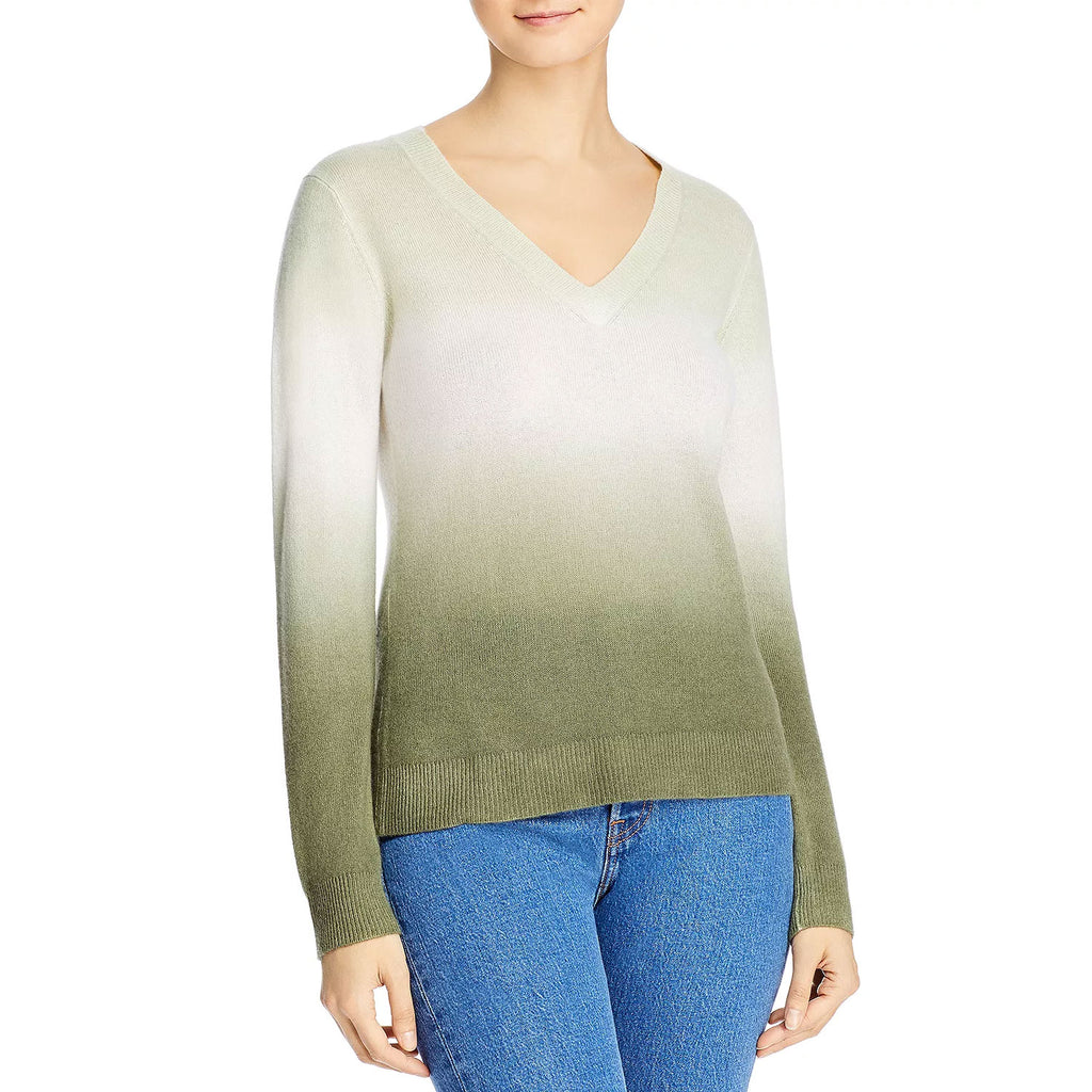 Minnie Rose Safari Dip Dye V Neck Sweater Size Extra Small Muse Boutique Outlet | Shop Designer Sweaters on Sale | Up to 90% Off Designer Fashion