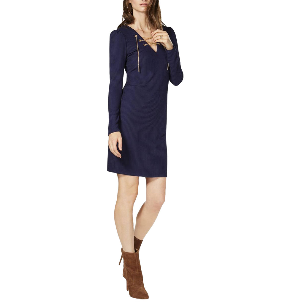 MICHAEL Michael Kors Navy Chain Lace Up Dress Size Extra Extra Large Muse Boutique Outlet | Shop Designer Dresses on Sale | Up to 90% Off Designer Fashion