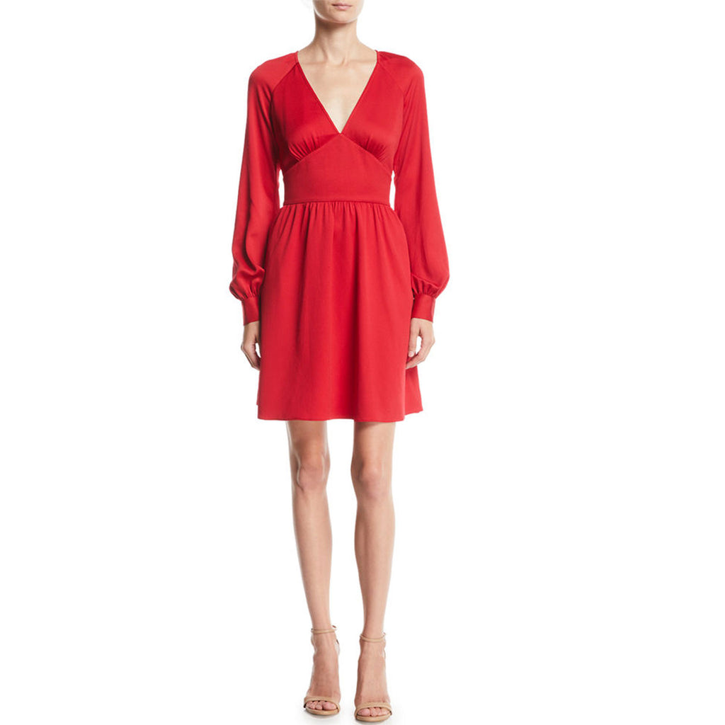 MICHAEL Michael Kors Red Fit and Flare Dress Size Medium Muse Boutique Outlet | Shop Designer Dresses on Sale | Up to 90% Off Designer Fashion