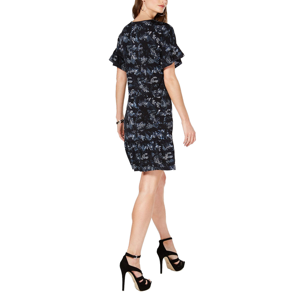 Michael Kors  Snake Print Ruffle Dress Size  Muse Boutique Outlet | Shop Designer Dresses on Sale | Up to 90% Off Designer Fashion