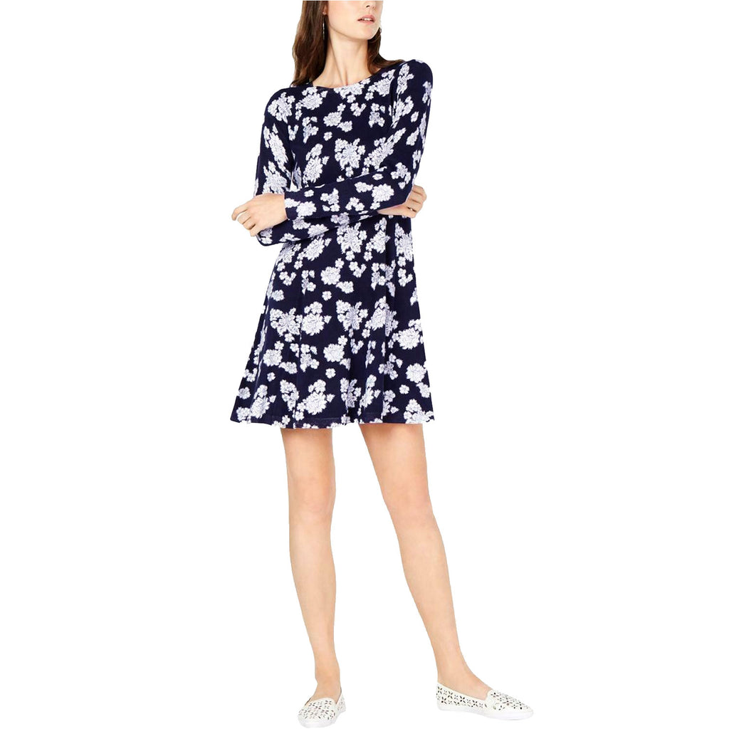 Michael Kors True Navy Floral Sweater Dress Size Extra large Muse Boutique Outlet | Shop Designer Dresses on Sale | Up to 90% Off Designer Fashion