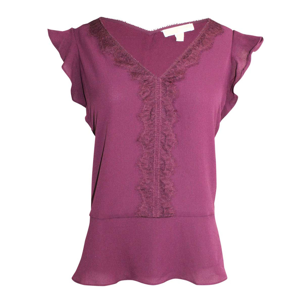 Michael Kors Cordovan Lace Trim Top Size Extra small Muse Boutique Outlet | Shop Designer Clearance Tops on Sale | Up to 90% Off Designer Fashion