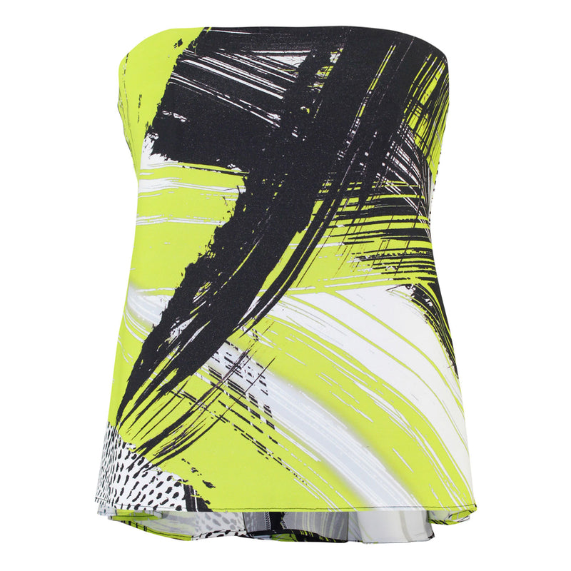 Milly Citron Strapless Brushstroke Top Size 4 Muse Boutique Outlet | Shop Designer Sleeveless Tops on Sale | Up to 90% Off Designer Fashion