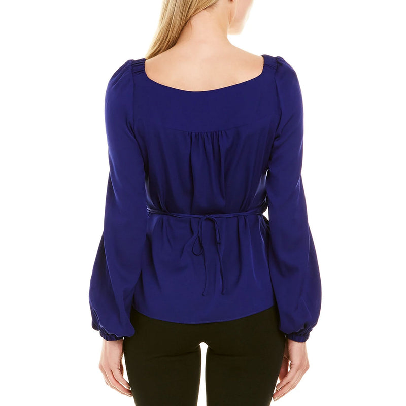 Milly  Hallie Wrap Top Size  Muse Boutique Outlet | Shop Designer Long Sleeve Tops on Sale | Up to 90% Off Designer Fashion