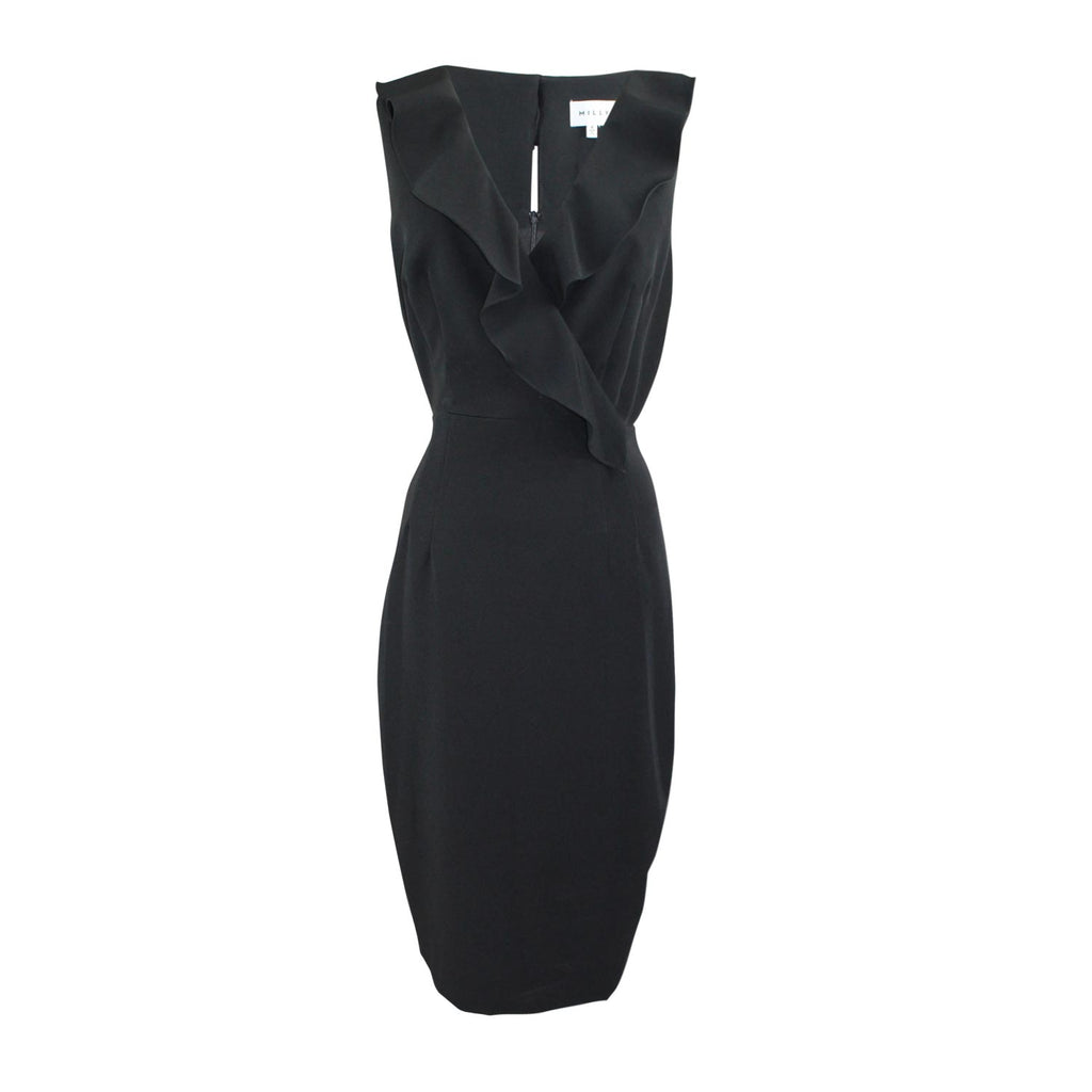Milly Black Luna Ruffle Dress Size 8 Muse Boutique Outlet | Shop Designer Evening/Cocktail on Sale | Up to 90% Off Designer Fashion
