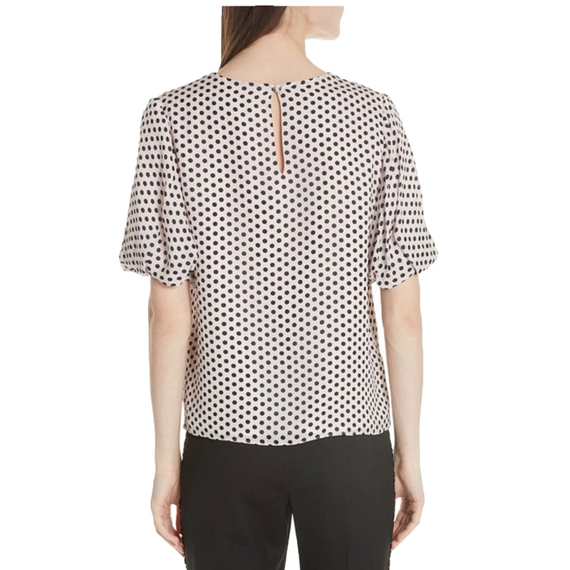 Milly  Melinda Dot Puff Sleeve Silk Bouse Size  Muse Boutique Outlet | Shop Designer Blouses on Sale | Up to 90% Off Designer Fashion