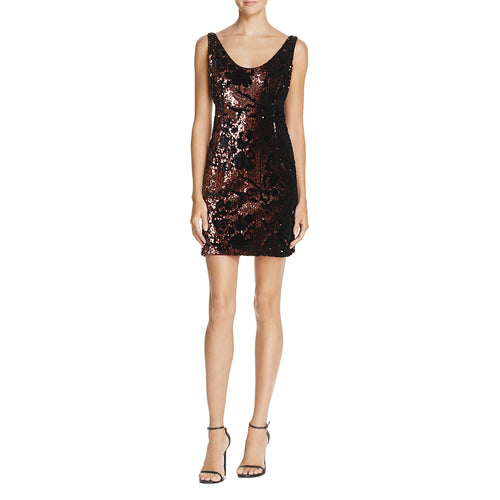 Milly Cora Sequin Velvet Mini Dress 2 Bronze Muse Boutique Outlet
