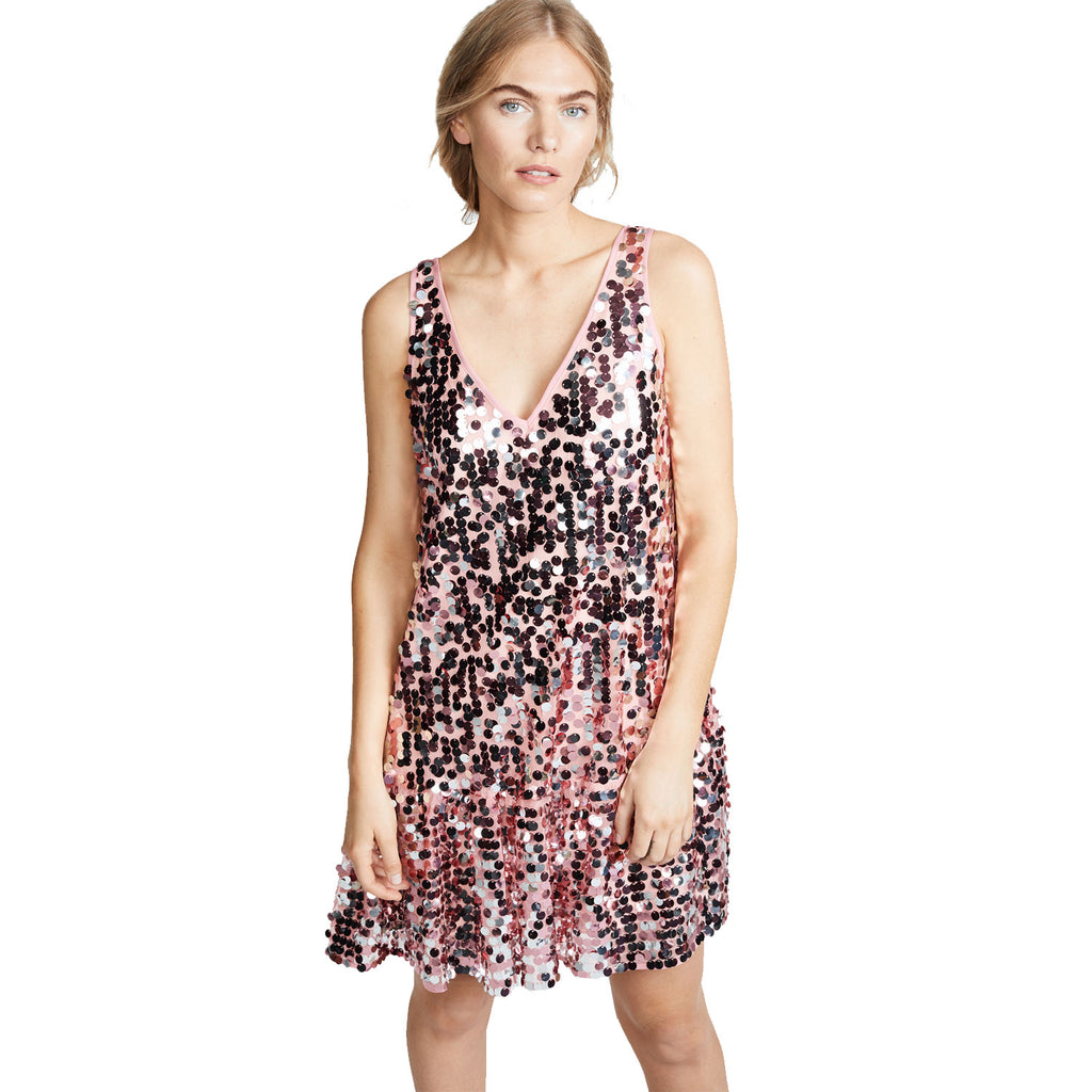 Milly Pale Pink Mia Sequin Dress Size Petite Muse Boutique Outlet | Shop Designer Dresses on Sale | Up to 90% Off Designer Fashion