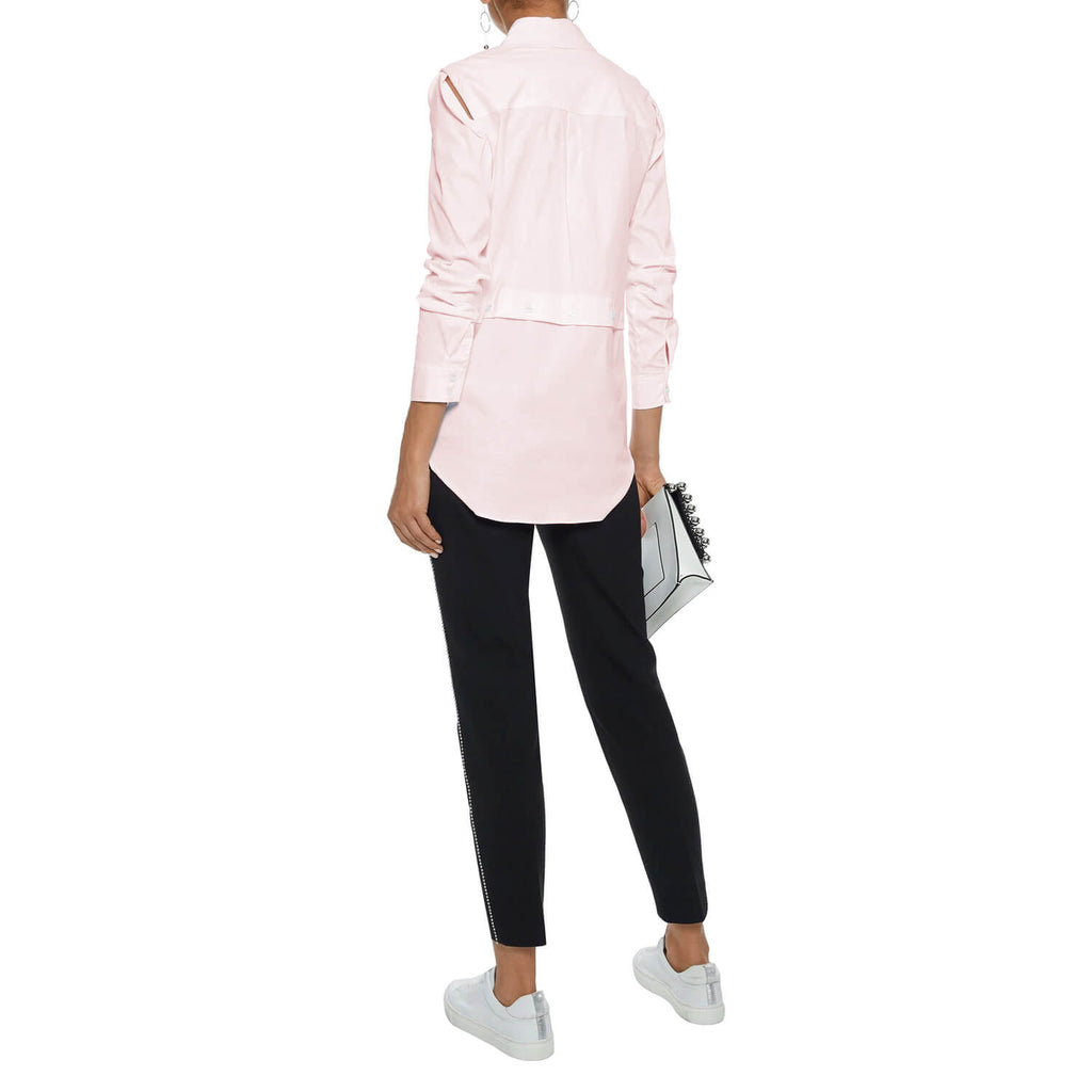 Milly  Asymmetric Cutout Cotton Poplin Shirt Size  Muse Boutique Outlet | Shop Designer Long Sleeve Tops on Sale | Up to 90% Off Designer Fashion