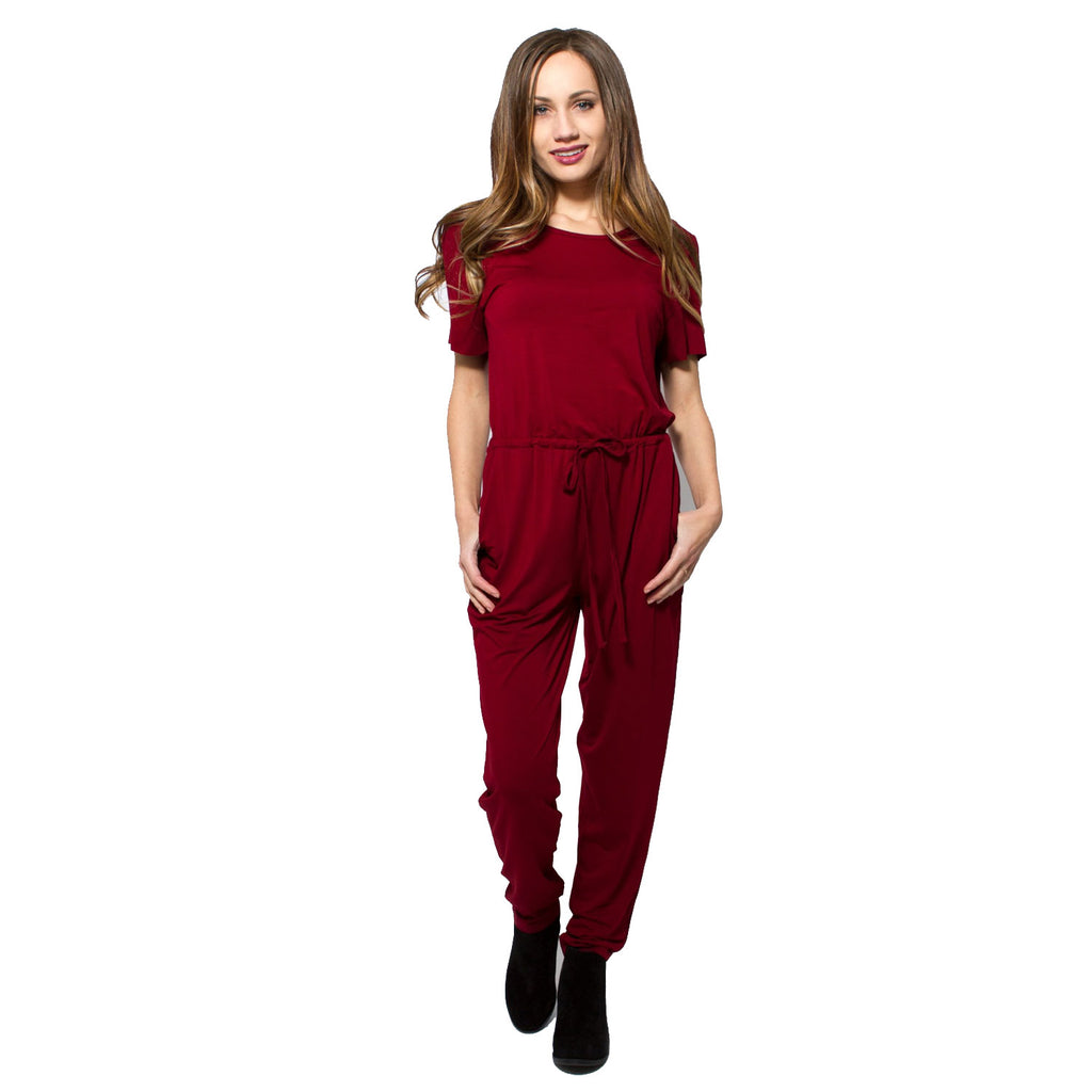 MINKPINK Red Knit Short Sleeve Jumpsuit Size Extra Small Muse Boutique Outlet | Shop Designer Clearance Bottoms on Sale | Up to 90% Off Designer Fashion