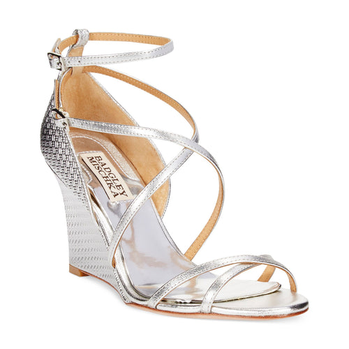 Badgley Mischka Melaney II - Open Toe Wedge   Muse Boutique Outlet