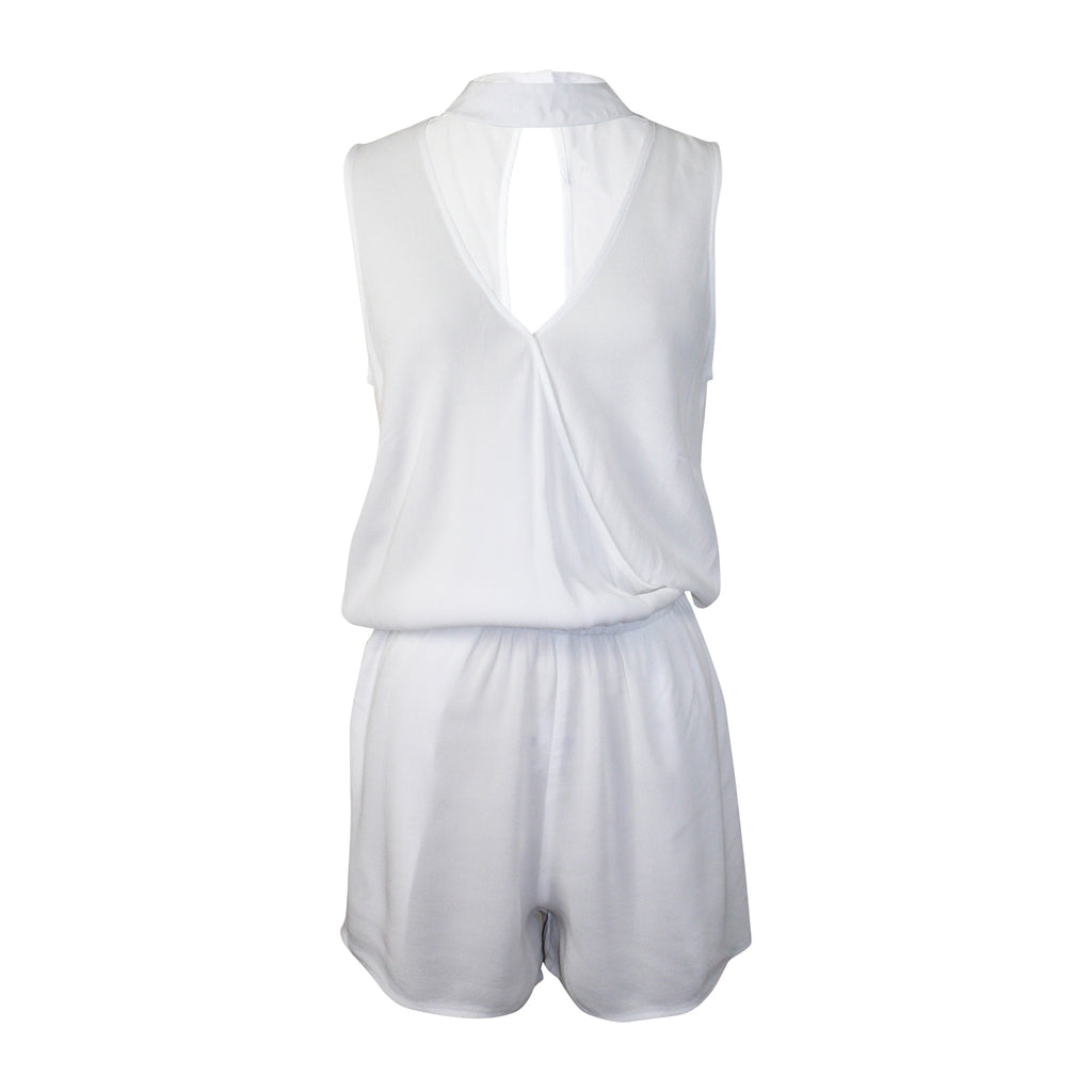 Monrow White Crepe Romper Size Extra Small Muse Boutique Outlet | Shop Designer Rompers & Jumpsuits on Sale | Up to 90% Off Designer Fashion