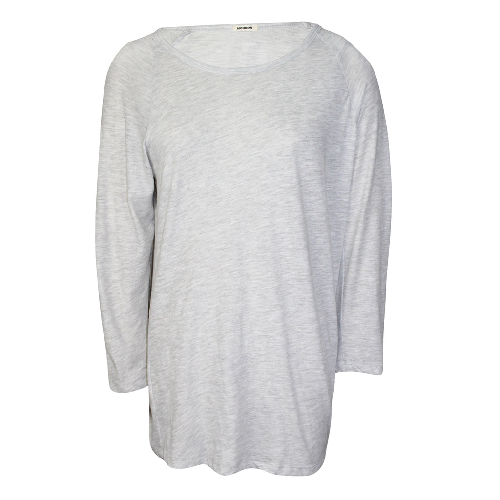 Monrow Ash Raglan Sleeve Knit Tee Size Small Muse Boutique Outlet | Shop Designer Long Sleeve Tops on Sale | Up to 90% Off Designer Fashion