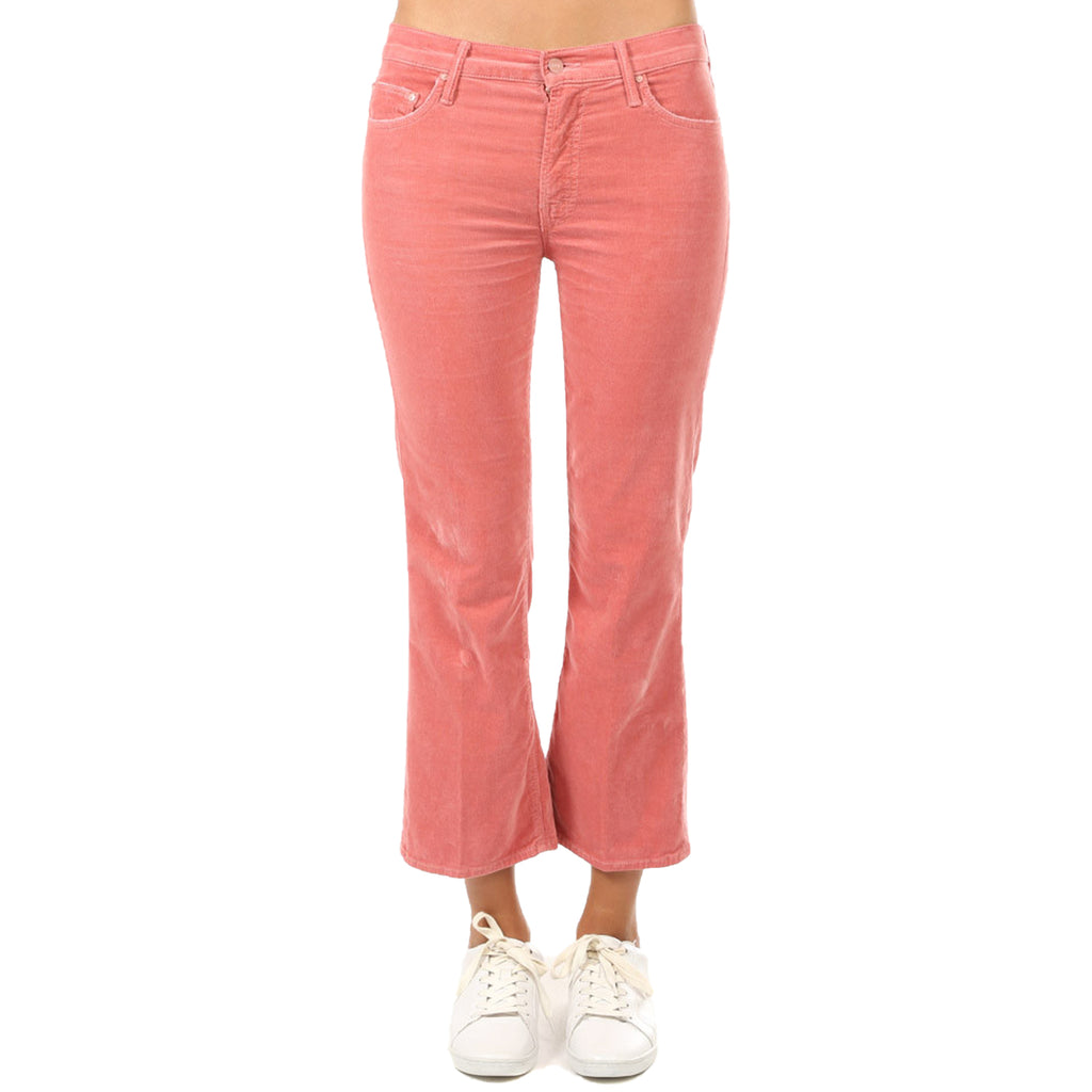 Mother The Outsider Crop Jeans - Pink Pink 25 Pink Pink Muse Boutique Outlet | Up to 90% Off Designer Fashion