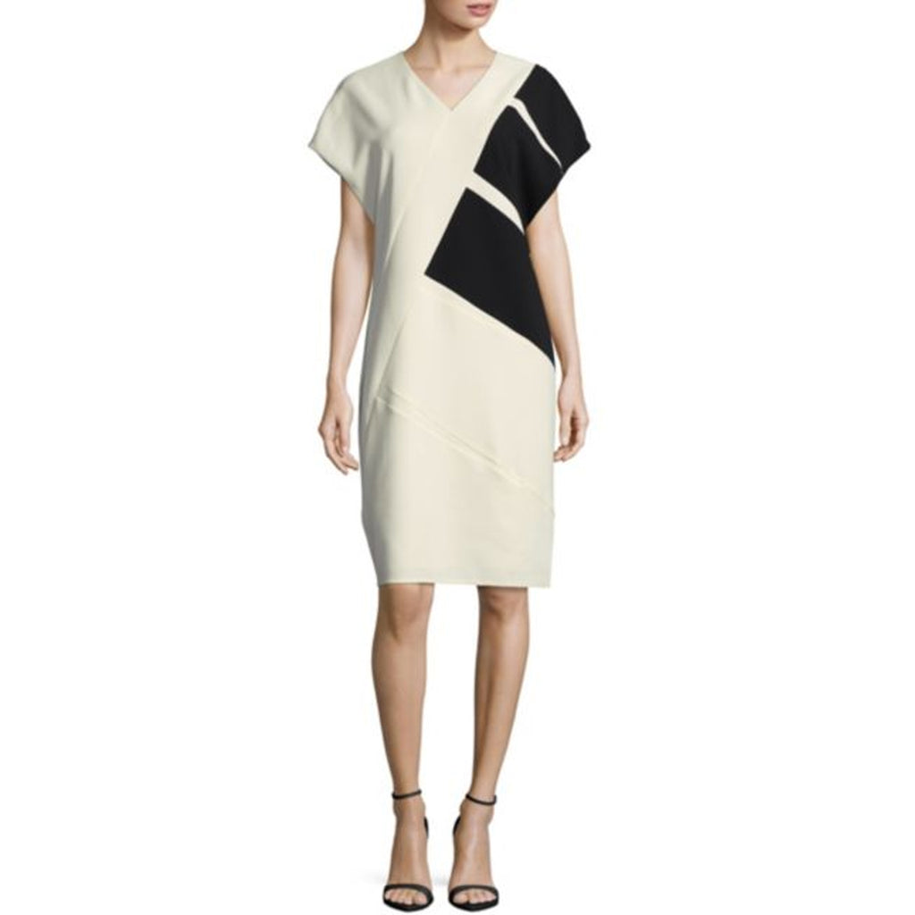 Narciso Rodriguez White Black Diagonal Colorblock Dress Size 40 Muse Boutique Outlet | Shop Designer Clearance Dresses on Sale | Up to 90% Off Designer Fashion