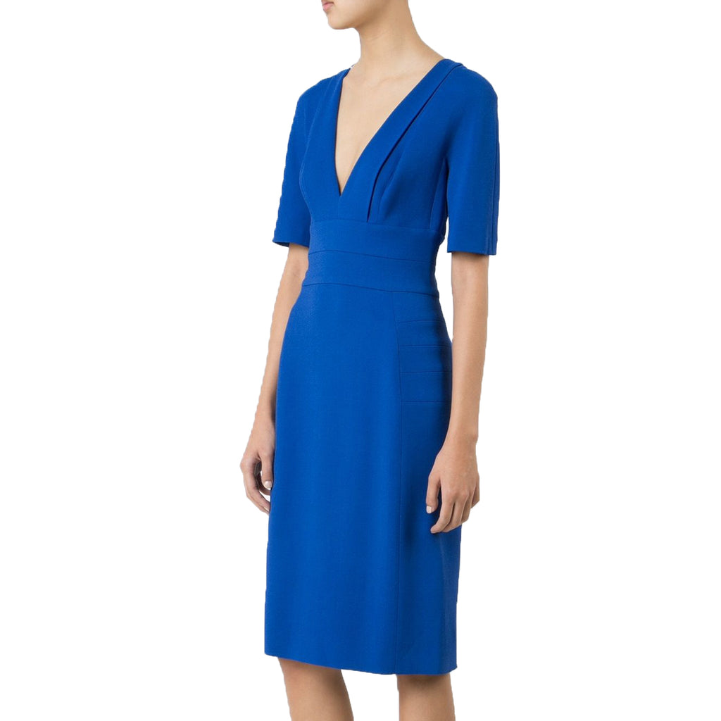 Narciso Rodriguez Cobalt Fitted Low Neck Dress Size 42 Muse Boutique Outlet | Shop Designer Clearance Dresses on Sale | Up to 90% Off Designer Fashion