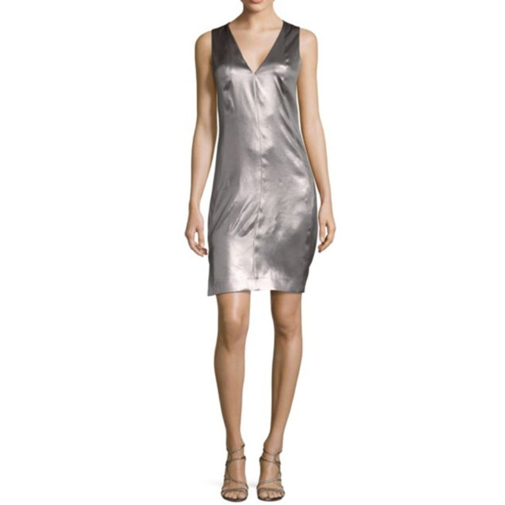 Narciso Rodriguez Mercury Mercury Metallic Silk Shift Dress Size 40 Muse Boutique Outlet | Shop Designer Clearance Dresses on Sale | Up to 90% Off Designer Fashion