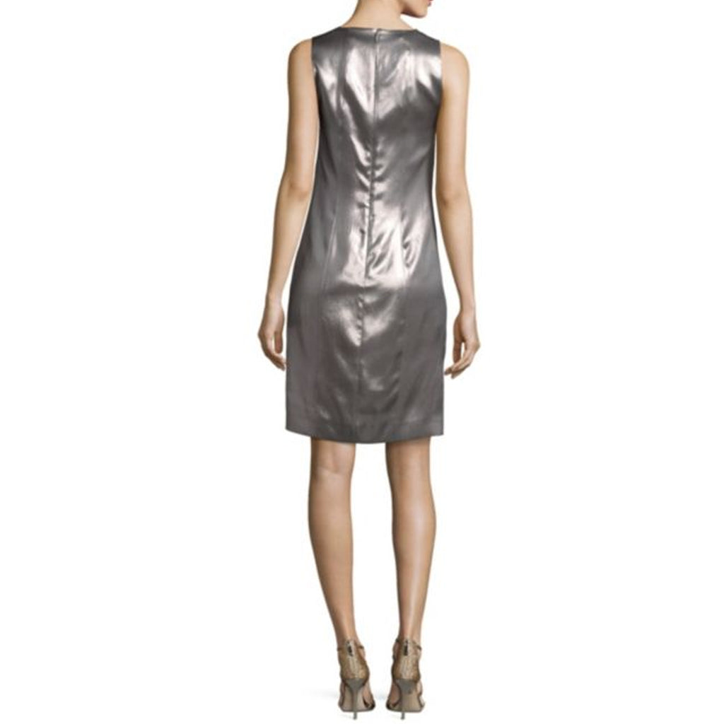 Narciso Rodriguez  Mercury Metallic Silk Shift Dress Size  Muse Boutique Outlet | Shop Designer Clearance Dresses on Sale | Up to 90% Off Designer Fashion