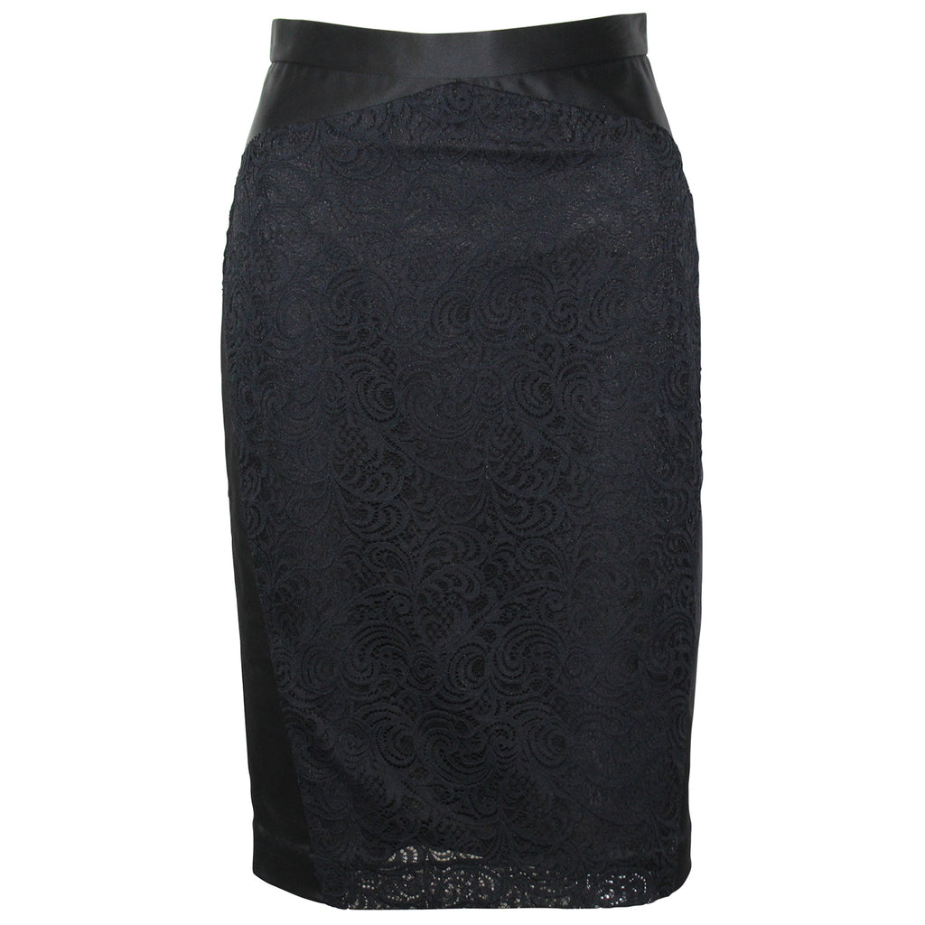 Nicole Miller Black Lace Pencil Skirt Size 2 Muse Boutique Outlet | Shop Designer Clearance Skirts on Sale | Up to 90% Off Designer Fashion