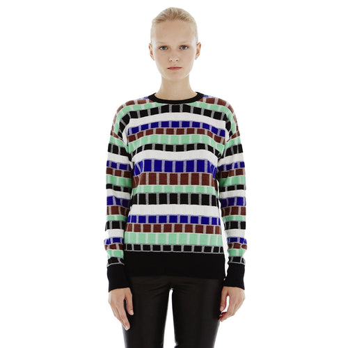 Novis The Gaspard Sweater Small Chocolate Multi Muse Boutique Outlet