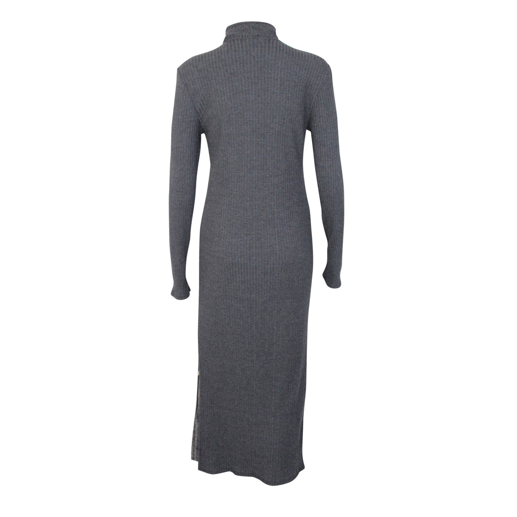NYTT  Long Sleeve Ribbed Midi Dress Size  Muse Boutique Outlet | Shop Designer Clearance Dresses on Sale | Up to 90% Off Designer Fashion