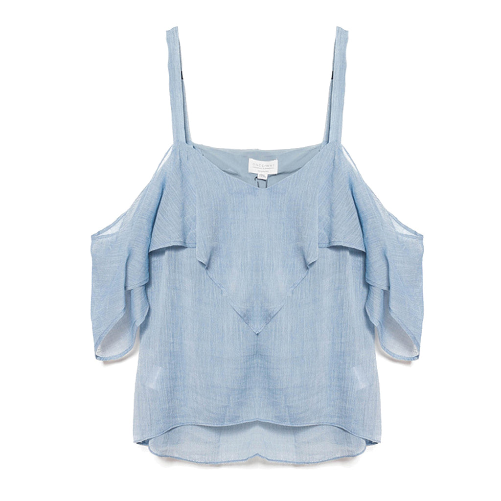 Once Was Chambray Clifton Cold Shoulder Crop Cami Size 0 Muse Boutique Outlet | Shop Designer Clearance Tops on Sale | Up to 90% Off Designer Fashion