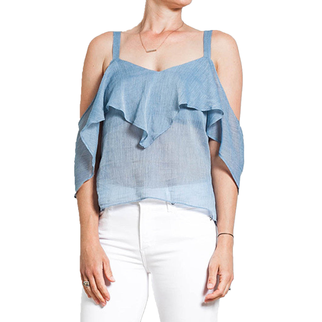 Once Was  Clifton Cold Shoulder Crop Cami Size  Muse Boutique Outlet | Shop Designer Clearance Tops on Sale | Up to 90% Off Designer Fashion