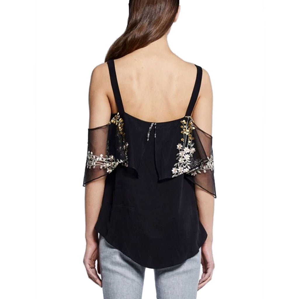 Once Was  Clifton Hankerchief Ruffle Cold Shoulder Top Size  Muse Boutique Outlet | Shop Designer Short Sleeve Tops on Sale | Up to 90% Off Designer Fashion