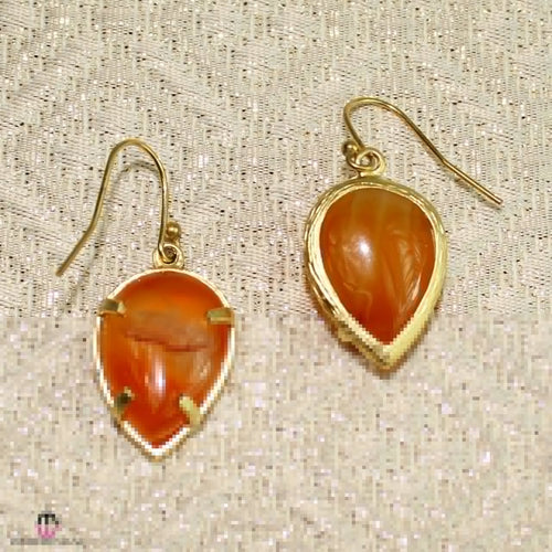 Private Label Orange Petite Teardrop Earring Orange  Muse Boutique Outlet