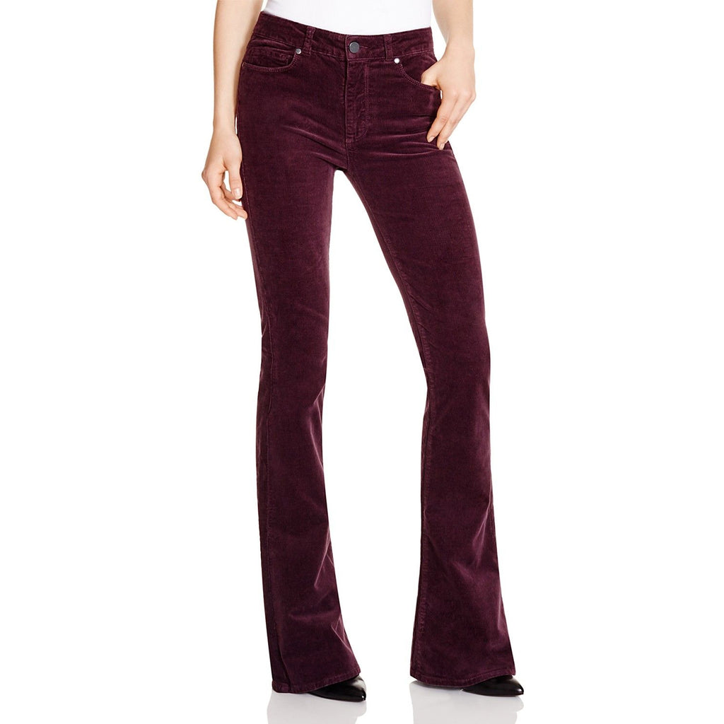 Paige Velvet Plum High Rise Lou Lou Velvet Pants Size 24 Muse Boutique Outlet | Shop Designer Denim Pants on Sale | Up to 90% Off Designer Fashion