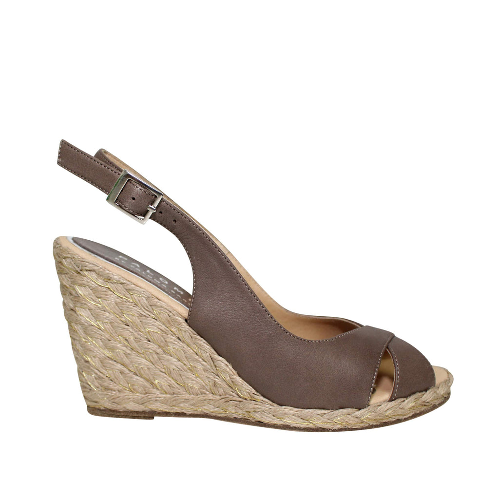 Palomitas Taupe Criss Crossing Wedge Size 36 Muse Boutique Outlet | Shop Designer Clearance Shoes on Sale | Up to 90% Off Designer Fashion