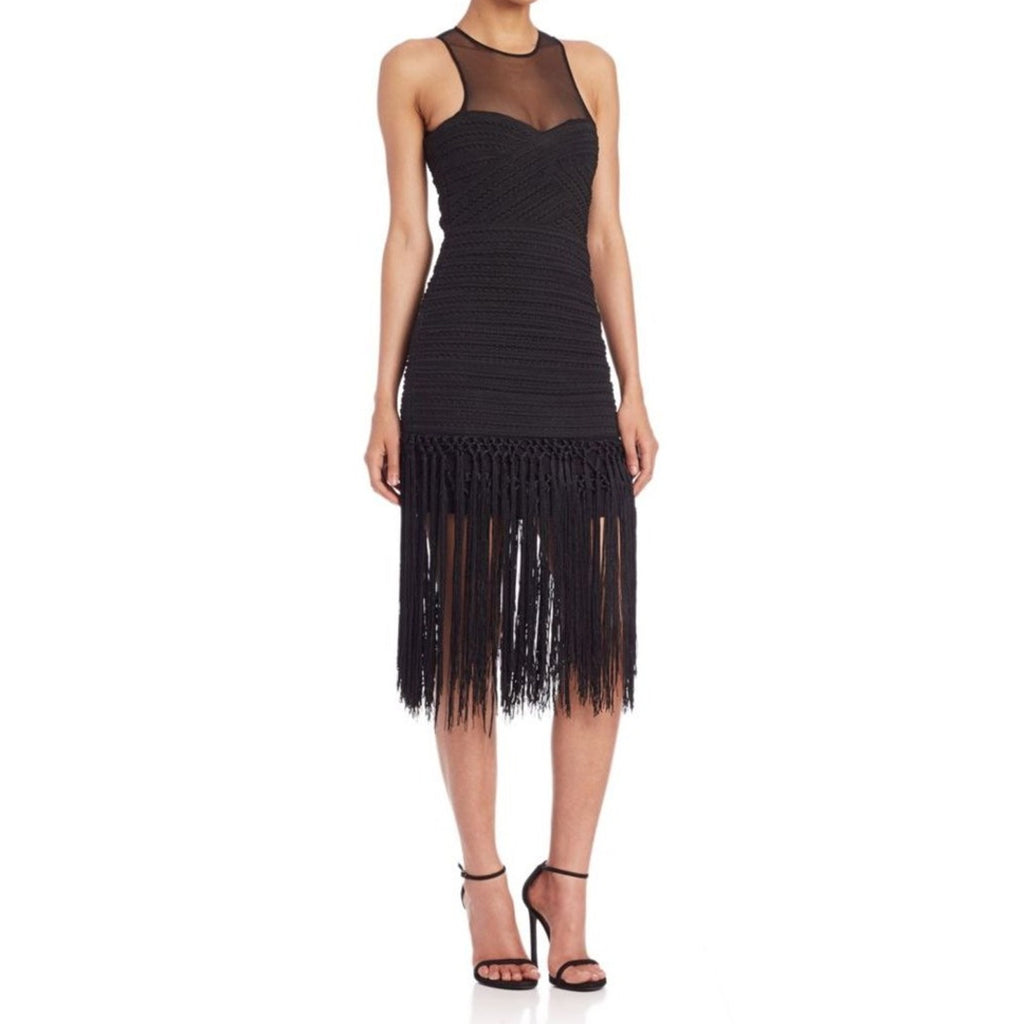 Parker Black Gabe Fringe Dress Size Medium Muse Boutique Outlet | Shop Designer Evening/Cocktail on Sale | Up to 90% Off Designer Fashion