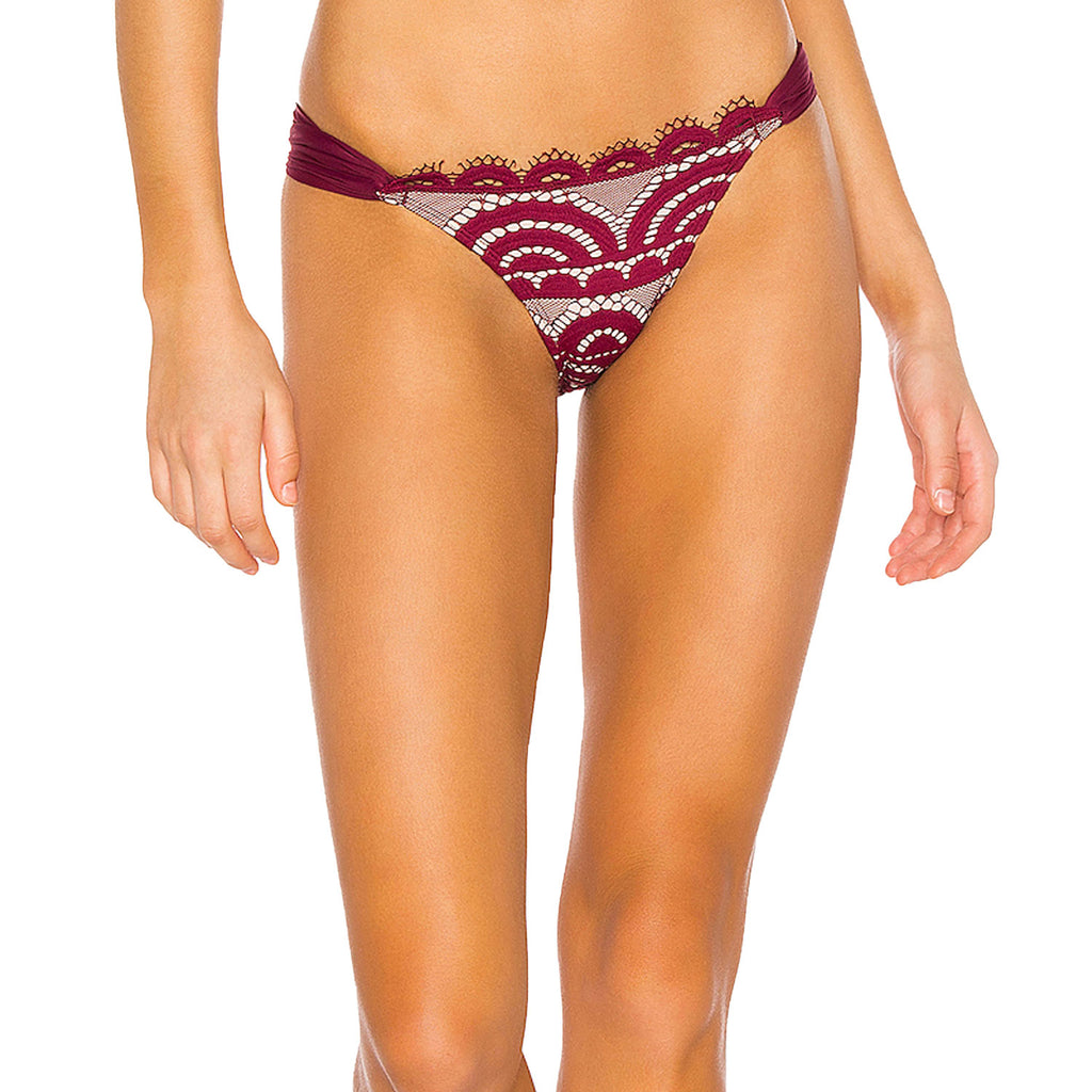 Pilyq Vino Lace Fanned Teeny Bottom Size Medium Muse Boutique Outlet | Shop Designer Swimwear on Sale | Up to 90% Off Designer Fashion