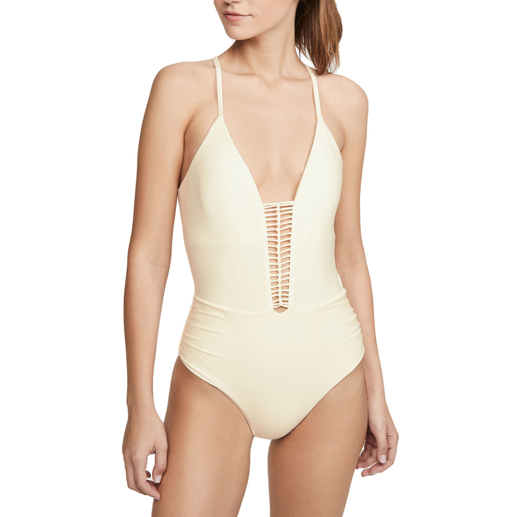 Pilyq Ivory Victoria One Piece Swimsuit Size Small Muse Boutique Outlet | Shop Designer Swimwear on Sale | Up to 90% Off Designer Fashion