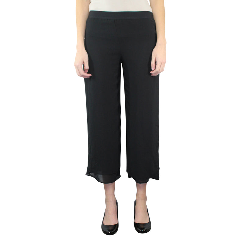 Pierantonio Gaspari Nero Lightweight Culotte Trouser Size 40 Muse Boutique Outlet | Shop Designer Clearance Bottoms on Sale | Up to 90% Off Designer Fashion