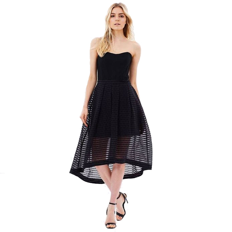 PS The Label Black Mesh Strapless Flared Dress Size Extra Small Muse Boutique Outlet | Shop Designer Clearance Dresses on Sale | Up to 90% Off Designer Fashion