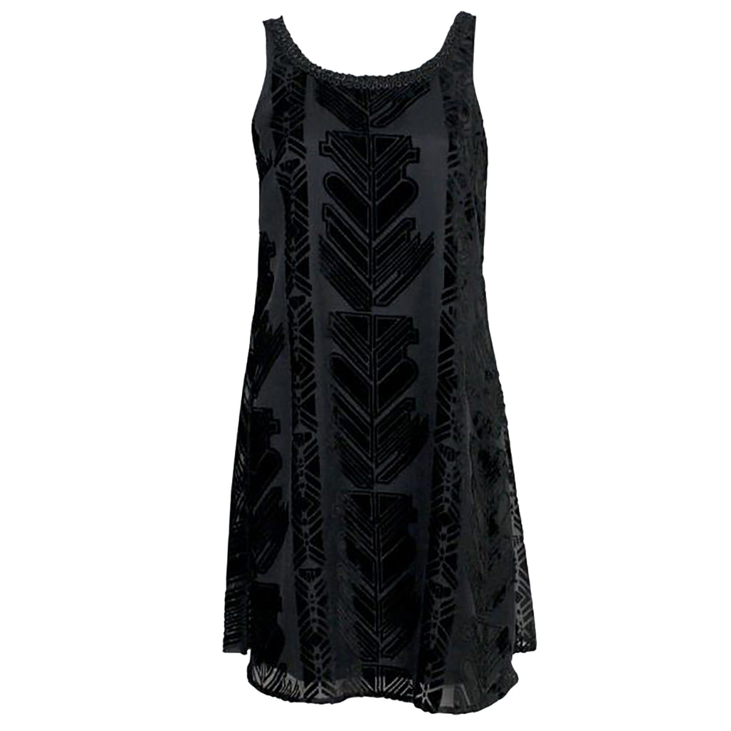 Plenty by Tracy Reese Black Velvet Burnout Dress Size Medium Muse Boutique Outlet | Shop Designer Clearance Dresses on Sale | Up to 90% Off Designer Fashion