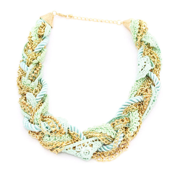 Aqua Crochet Necklace