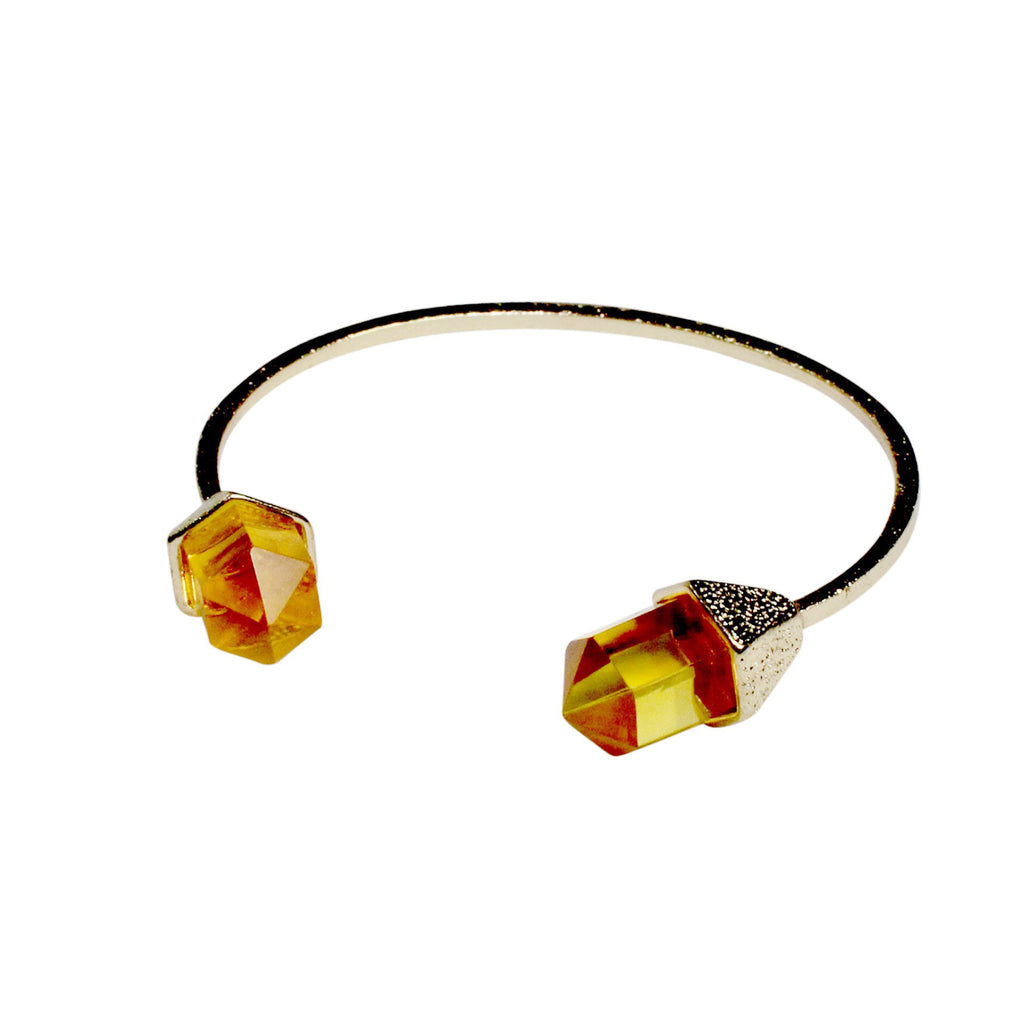 Private Label Orange Faceted Stone Pinch Cuff Size OSFA Muse Boutique Outlet | Shop Designer Clearance Jewelry on Sale | Up to 90% Off Designer Fashion
