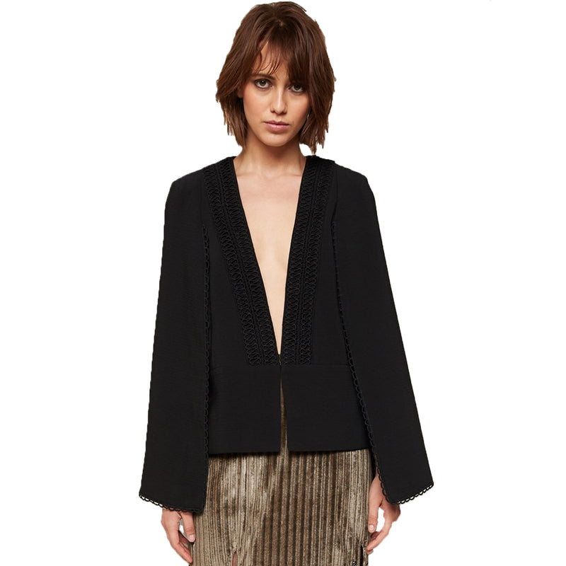 PS The Label Black Gemini Cape Jacket Size Small Muse Boutique Outlet | Shop Designer Jackets on Sale | Up to 90% Off Designer Fashion